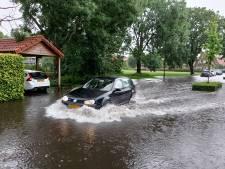 Wateroverlast in Doetinchem na hoosbui: kelders onder water, straten afgesloten