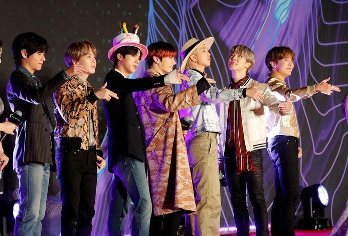 BTS tijdens de Mama Awards in Japan.
