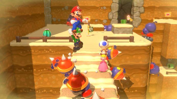 Beeld uit 'Super Mario 3D World', een oude Wii U-game die een herkansing kreeg op de Switch.