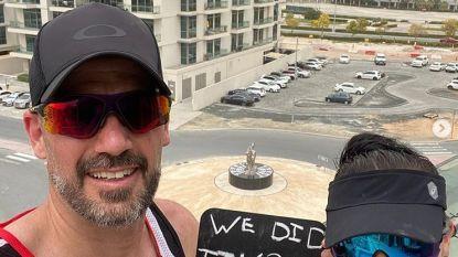 2.100 keer heen en weer: koppel loopt marathon op balkon in Dubai