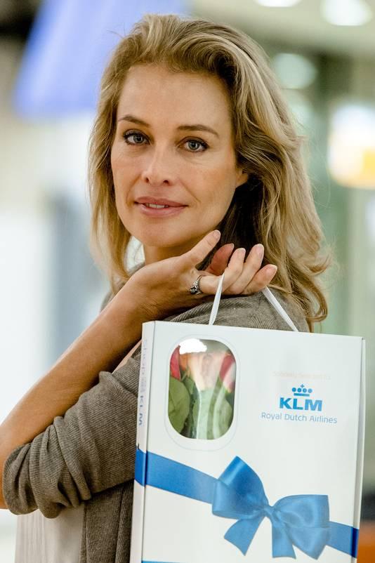 Frederiques bloemen worden ook verkocht aan boord van KLM-vluchten.