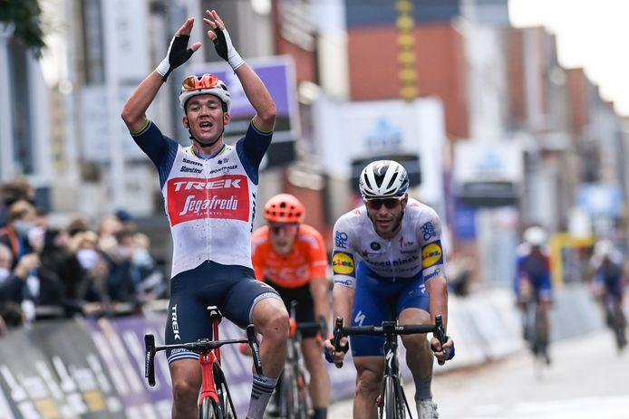 Mads Pedersen won Gent-Wevelgem vorig jaar.