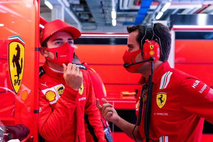 Charles Leclerc strandde in Q2. Hetzelfde overkwam vorige week zijn teamgenoot Sebastian Vettel.