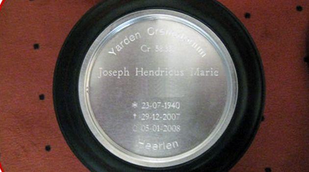 Boven 'Joseph Hendricus Marie' staat vrij nadrukkelijk de naam Yarden.