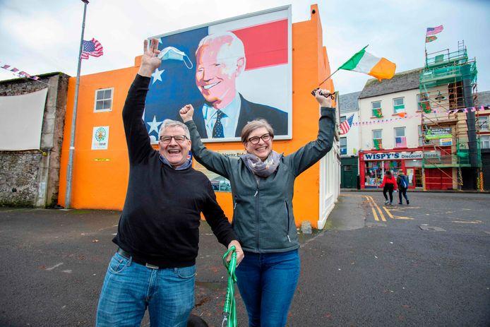 Kevin and Elizabeth Nestor, zijn net geëmigreerd in omgekeerde richting als destijds de Bidens: van Pennysylvabia naar Ballina aan de Ierse westkust.