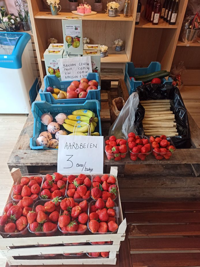 Seizoensgebonden groenten en fruit.