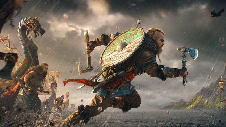 Beeld uit het spel Assassin's Creed Valhalla, het nieuwe deel van de populaire Assasin's Creed-serie van Ubisoft dat eind dit jaar uitkomt.   Beeld Ubisoft