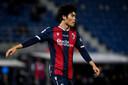 Takehiro Tomiyasu speelt momenteel bij Bologna.