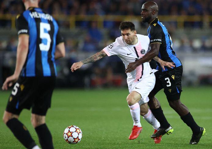Bien tenu par Balanta, Lionel Messi n'a pas eu beaucoup d'espace pour s'exprimer à Bruges, mercredi soir.