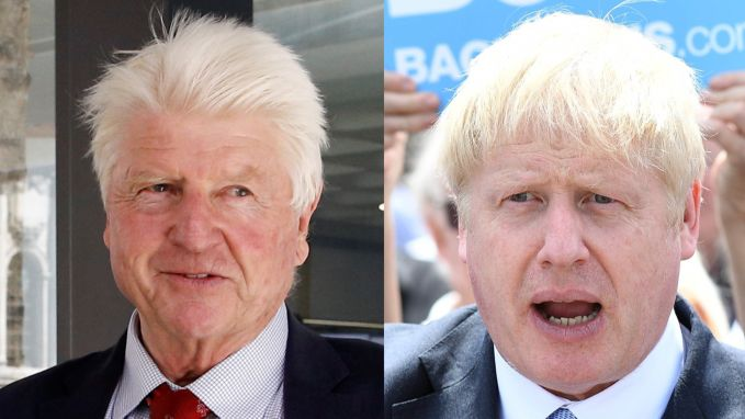De appel valt niet ver van de boom: de vader van Boris Johnson reageert