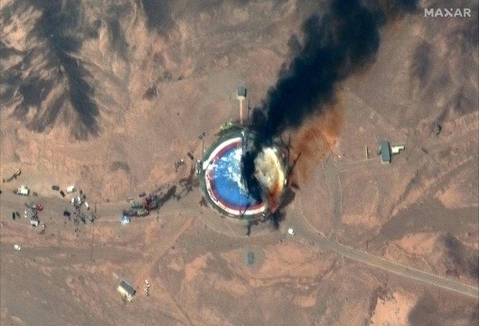 Andere beelden van de mislukte lancering zijn minder duidelijk.