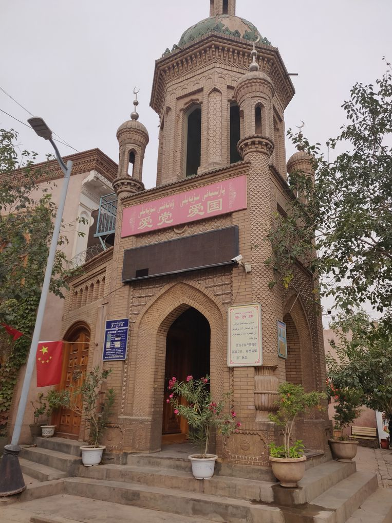 Een moskee in Kashgar. Beeld Eefje Rammeloo