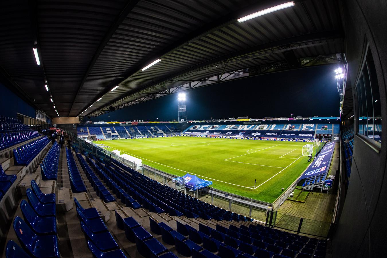 Het stadion van PEC Zwolle.