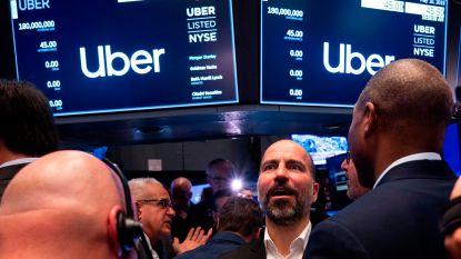 Uber meteen in het rood