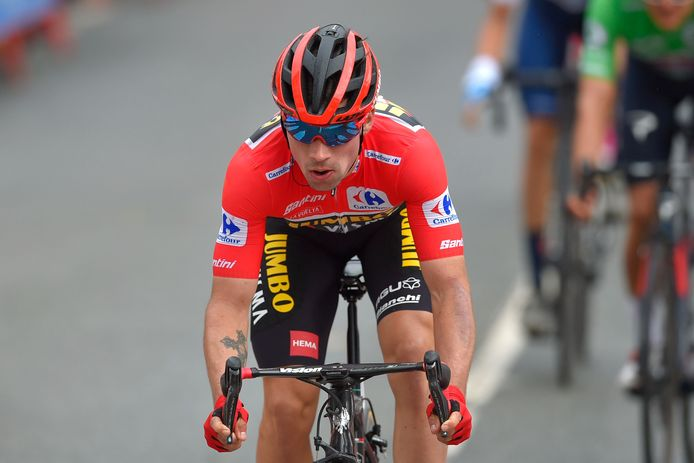 Primoz Roglic is leider in de Vuelta.