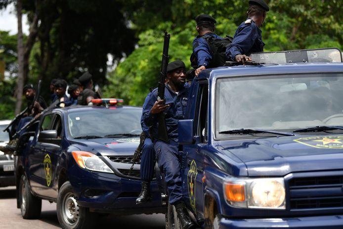 Policiers à Kinshasa (archives, 2019)