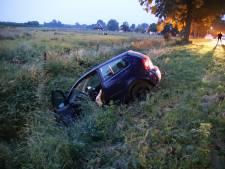 Auto raakt van de weg en belandt in greppel in Geldermalsen