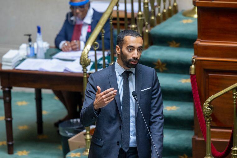 Staatssecretaris voor Asiel en Migratie Sammy Mahdi (CD&V).  Beeld BELGA