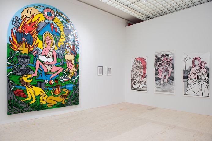 Het kunstenaarsatelier in de tentoonstelling Fra Bartolommeo – de goddelijke renaissance. Museum Boijmans Van Beuningen, Rotterdam.