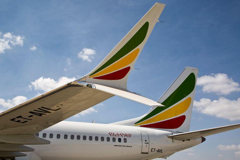 Een Boeing 737 Max 8 van Ethiopian Airlines. Beeld AP