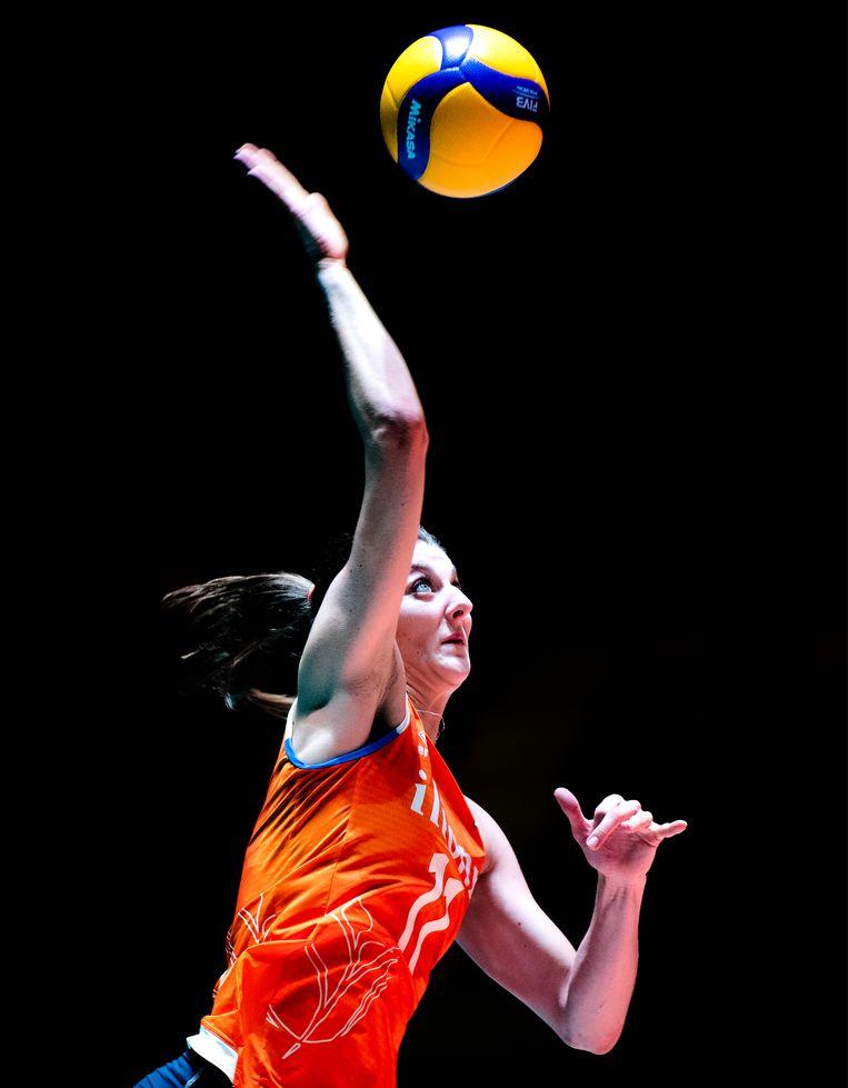 Anne Buijs, aanvoerder van de Nederlandse ploeg. Beeld Klaas Jan van der Weij