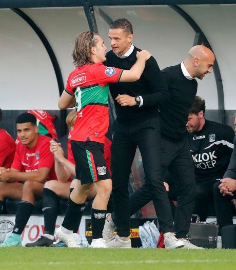 Meijer blij en trots na fraaie zege NEC: 'Als we zo met ons hart blijven spelen, kunnen we ver komen'