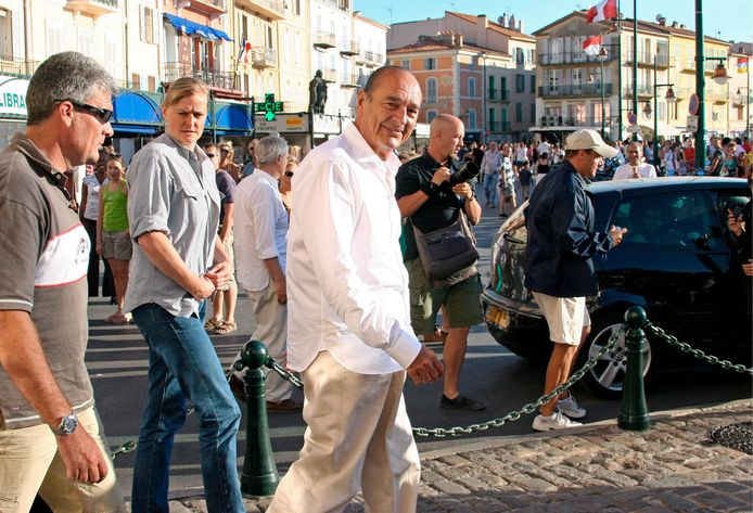 Jacques Chirac in Saint -Tropez in 2007