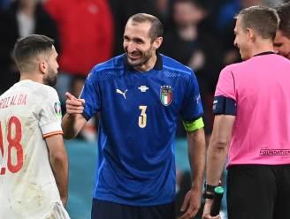 """Chiellini komt terug op episode met Alba en vergelijkt België en Spanje: """"Tegen Rode Duivels verloren we nooit de controle"""""""
