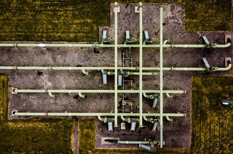 Gaswinningslocatie van de NAM in Muntendam.  Beeld ANP