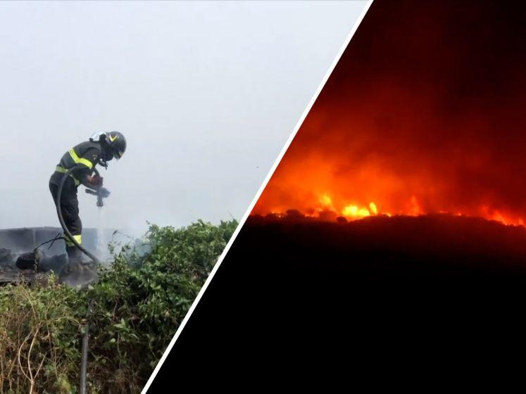 Meer dan 400 mensen geëvacueerd door grote brand Sardinië