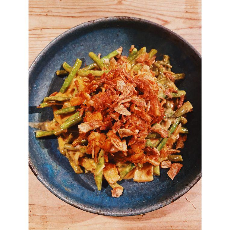 Curry van jackfruit met kouseband Beeld Yvette van Boven