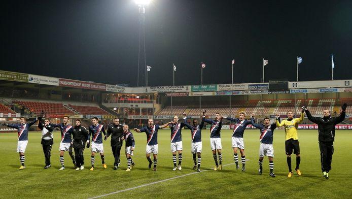 Sparta viert de overwinning op FC Volendam.