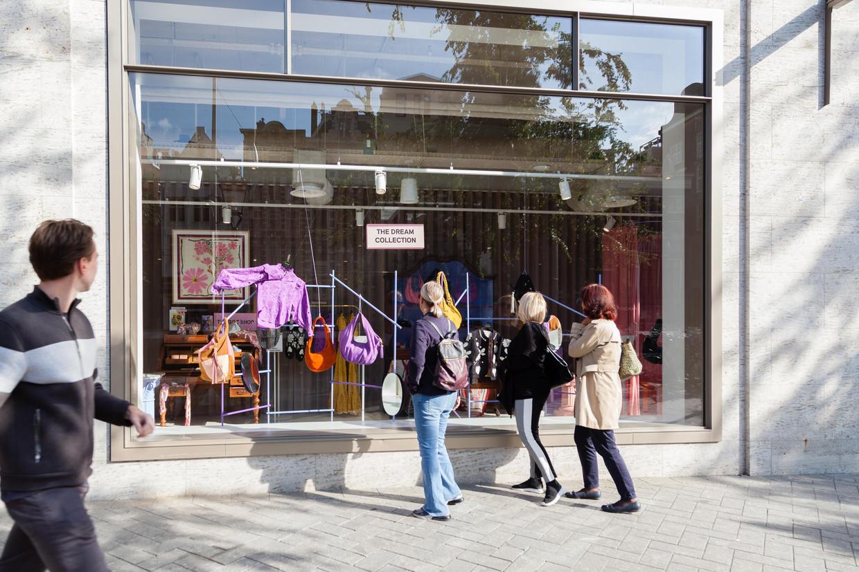 De pop-upstore in het pand van Adyen aan het Rokin. Beeld Nina Schollaardt