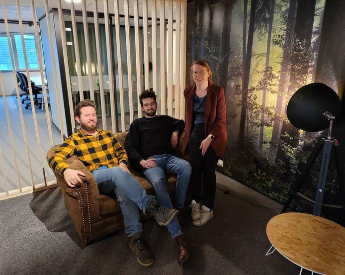 Clovis Six, Arno Soontjens en Ellen Batens van BloomUp.