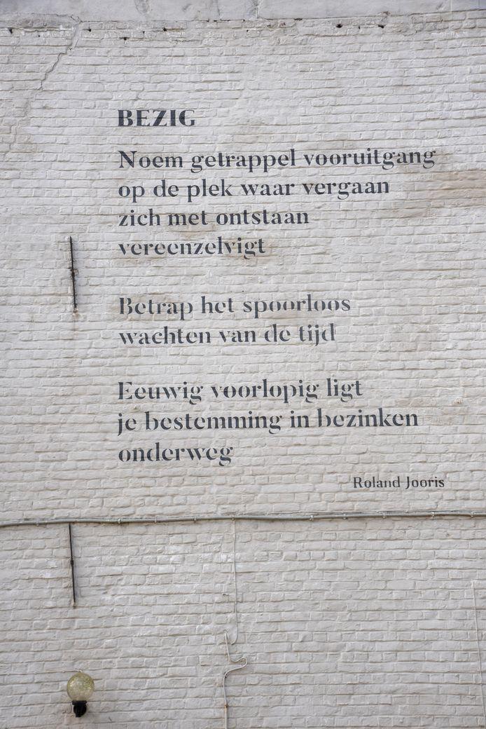 Het gedicht van Roland Jooris.