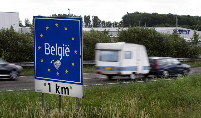 23 procent van de Belgen die deze zomer met de auto op reis ging, vertrokken op zaterdag. Beeld ANP