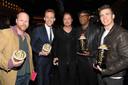 Joss Whedon, Tom Hiddleston, Brad Pitt, Samuel L. Jackson en Chris Evans