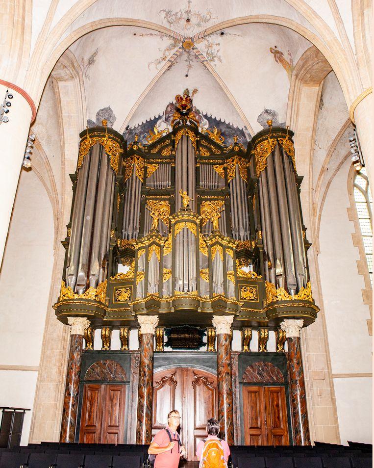 Het orgel in de Martinikerk in Groningen.  Beeld Hilde Harshagen