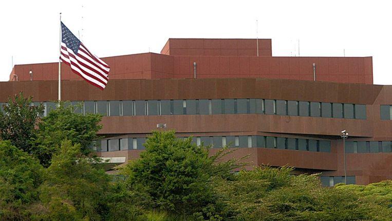 De Amerikaanse ambassade in de Venezolaanse hoofdstad Caracas. Beeld afp
