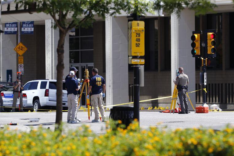 Politieonderzoek in Dallas. Beeld ap