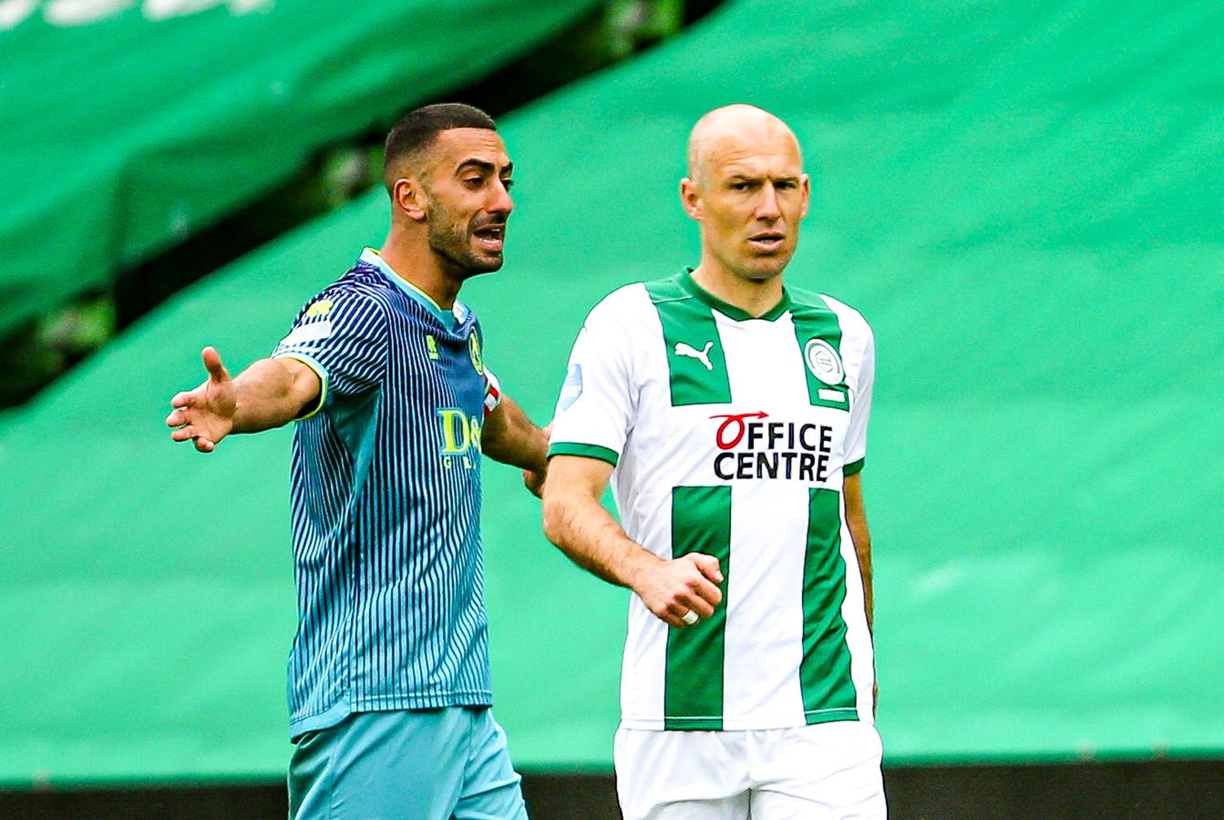 Abdou Harroui en Arjen Robben.