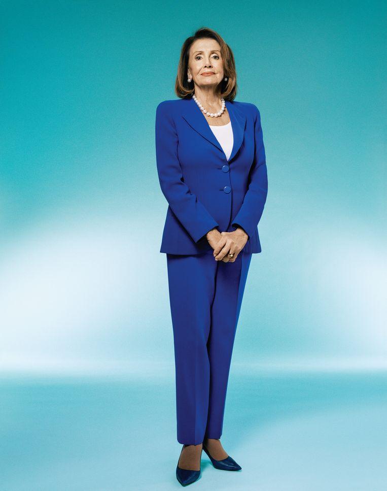 Nancy Pelosi, de aanvoerder van het Huis van Afgevaardigden. Beeld Pari Dukovic /Trunkarchive