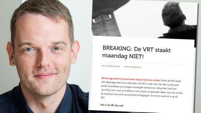 """MNM-dj Tom De Cock maakt stakende vakbonden VRT met grond gelijk in open brief: """"We hebben ze hier nog nooit gezien"""""""