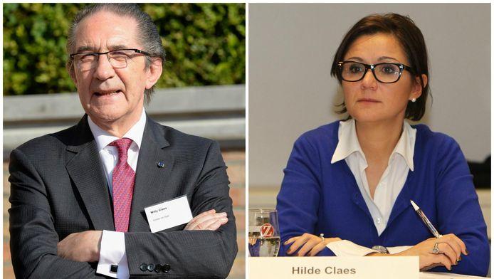 sp.a-minister van Staat Willy Claes en zijn dochter Hilde, huidig Hasselts burgemeester.
