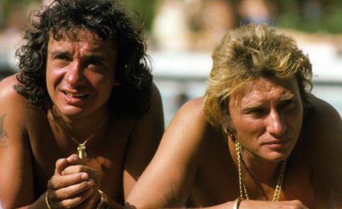 Michel Sardou et Johnny Hallyday.