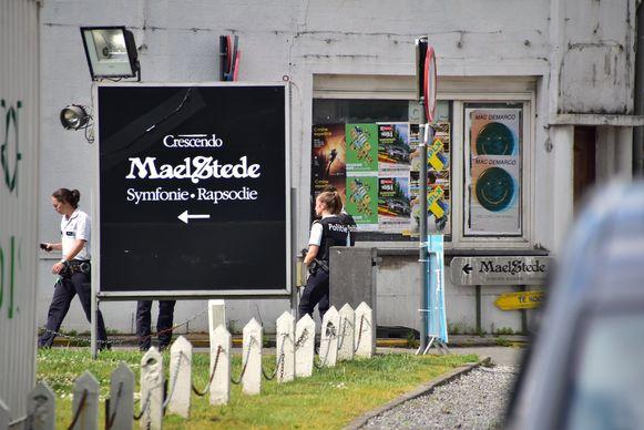 De politieactie speelde zich af in de buurt van feestzaal Maelstede.
