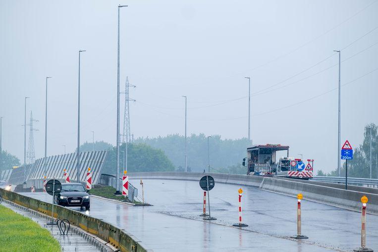 De flyover aan de R6 in Mechelen is bijna klaar