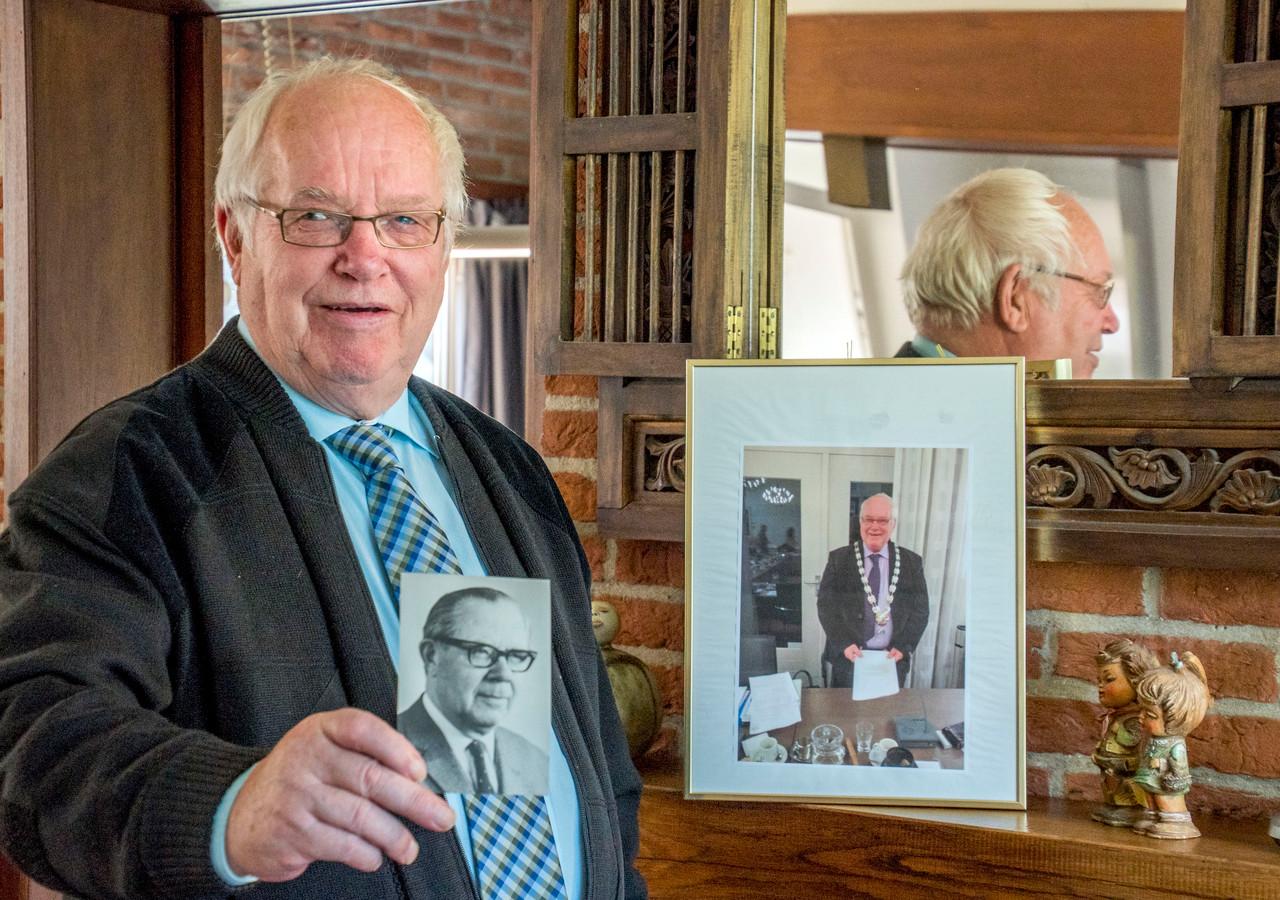 Ruud van de Ven toont een foto van zijn vader Willem, die na de oorlog bijna een kwarteeuw burgemeester van Haaren was.