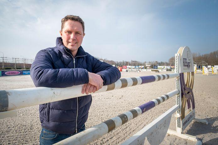 Mike Hazebroek van Azelhof Horse Events. Momenteel ligt alles stil in het hippisch centrum in Koningshooikt.