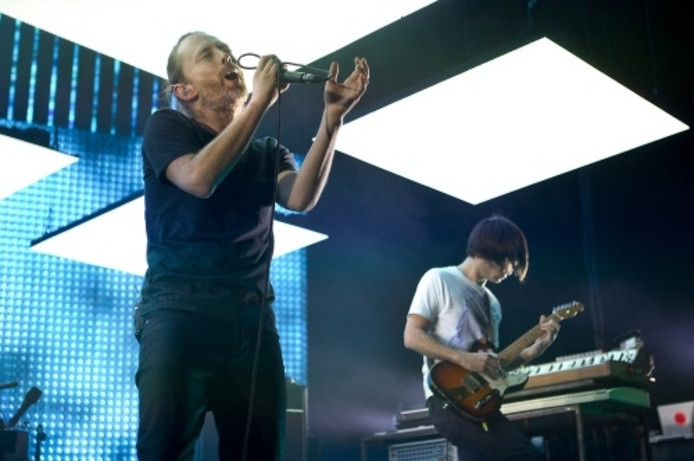 Yorke en Greenwood, leden van Radiohead.